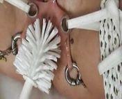 Torture Pain Vagina Bondage with Toilet Brush & Fisting from big vagina pissing toilet india indian bbw sex