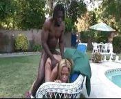 Black guy fucks black girl by the pool from big fucks black girl