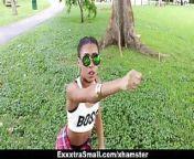 ExxxtraSmall - Cute Tiny Ebony Bounces on Big Cock from ebony mgp