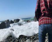 Russian teen girl swallows hot cum on Californian public beach - Eva Elfie from erosomi in