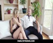 FamilyStrokes - Hot Stepmom Gives Reward Blowjob from fake naked sa