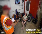 Roadside - Busty Brunette Fucks Her Mechanic from shiny doshi porn sexw xxx sex kolkata boudi xxxx v