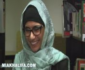 MIA KHALIFA - Lebanese Queen Removes Her Hijab And Clothes In A Public Libr from eda yemen